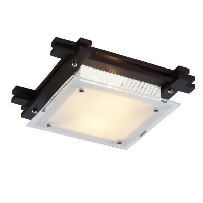 Светильник потолочный Arte lamp A6462PL-2CK ARCHIMEDEлюстры потолочные в японском стиле<br><br><br>Установка на натяжной потолок: Ограничено<br>S освещ. до, м2: 6<br>Крепление: Планка<br>Тип лампы: Накаливания / энергосбережения / светодиодная<br>Тип цоколя: E14<br>Цвет арматуры: коричневый<br>Количество ламп: 2<br>Ширина, мм: 300<br>Размеры: H9xW30xL30<br>Длина, мм: 300<br>Высота, мм: 90<br>MAX мощность ламп, Вт: 60