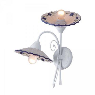 Настенный бра Arte lamp A6473AP-2WH AnnaКлассика<br><br><br>S освещ. до, м2: 6<br>Тип товара: Светильник настенный бра<br>Скидка, %: 58<br>Тип лампы: накаливания / энергосбережения / LED-светодиодная<br>Тип цоколя: E27<br>Количество ламп: 2<br>Ширина, мм: 270<br>MAX мощность ламп, Вт: 40<br>Диаметр, мм мм: 240<br>Высота, мм: 420