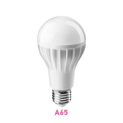 Лампа светодиодная ОНЛАЙТ 71 655 ОLL-A65-12-230-4K-E27Стандартный вид<br>Светодиодные лампы «Онлайт» – светодиодные энергосберегающие лампы общего и декоративного освещения.   Основные преимущества  • Высокоэффективные планарные светодиоды Epistar   • Алюминий и композитные материалы в составе радиаторов обеспечивают эффективный теплоотвод   • Высокоэффективный драйвер, построенный на интегральной микросхеме, обеспечивает стабильную работу при широком диапазоне входных напряжений без пульсаций светового потока   • Срок службы 30 000 часов.<br><br>Цветовая t, К: CW - холодный белый 4000 К<br>Тип лампы: LED - светодиодная<br>Тип цоколя: E27<br>MAX мощность ламп, Вт: 12<br>Диаметр, мм мм: 65<br>Высота, мм: 126