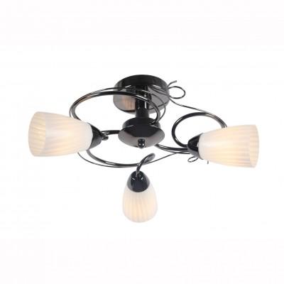 Светильник потолочный Arte lamp A6545PL-3BC ALESSIAПотолочные<br>Компания «Светодом» предлагает широкий ассортимент люстр от известных производителей. Представленные в нашем каталоге товары выполнены из современных материалов и обладают отличным качеством. Благодаря широкому ассортименту Вы сможете найти у нас люстру под любой интерьер. Мы предлагаем как классические варианты, так и современные модели, отличающиеся лаконичностью и простотой форм.  Стильная люстра Arte lamp A6545PL-3BC станет украшением любого дома. Эта модель от известного производителя не оставит равнодушным ценителей красивых и оригинальных предметов интерьера. Люстра Arte lamp A6545PL-3BC обеспечит равномерное распределение света по всей комнате. При выборе обратите внимание на характеристики, позволяющие приобрести наиболее подходящую модель. Купить понравившуюся люстру по доступной цене Вы можете в интернет-магазине «Светодом».<br><br>S освещ. до, м2: 6<br>Тип лампы: Накаливания / энергосбережения / светодиодная<br>Тип цоколя: E14<br>Количество ламп: 3<br>MAX мощность ламп, Вт: 40<br>Размеры: H25xW50xL50<br>Цвет арматуры: черный