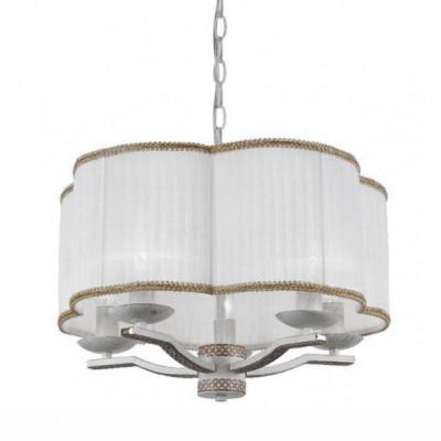 Светильник подвесной Arte lamp A6555SP-5WG GRANNYПодвесные<br>Компания «Светодом» предлагает широкий ассортимент люстр от известных производителей. Представленные в нашем каталоге товары выполнены из современных материалов и обладают отличным качеством. Благодаря широкому ассортименту Вы сможете найти у нас люстру под любой интерьер. Мы предлагаем как классические варианты, так и современные модели, отличающиеся лаконичностью и простотой форм.  Стильная люстра Arte lamp A6555SP-5WG станет украшением любого дома. Эта модель от известного производителя не оставит равнодушным ценителей красивых и оригинальных предметов интерьера. Люстра Arte lamp A6555SP-5WG обеспечит равномерное распределение света по всей комнате. При выборе обратите внимание на характеристики, позволяющие приобрести наиболее подходящую модель. Купить понравившуюся люстру по доступной цене Вы можете в интернет-магазине «Светодом».<br><br>S освещ. до, м2: 10<br>Тип цоколя: E14<br>Количество ламп: 5<br>MAX мощность ламп, Вт: 40<br>Размеры: H28xW45xL45+шн/цп40<br>Цвет арматуры: белый с золотистой патиной