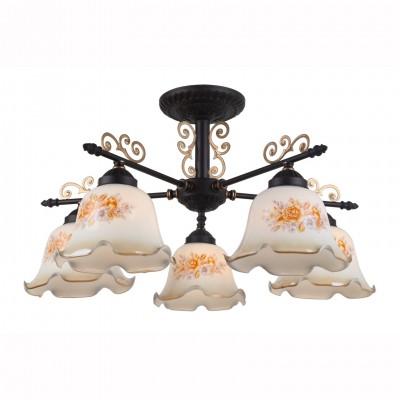 Светильник потолочный Arte lamp A6582PL-5BR AROMAПотолочные<br>Компания «Светодом» предлагает широкий ассортимент люстр от известных производителей. Представленные в нашем каталоге товары выполнены из современных материалов и обладают отличным качеством. Благодаря широкому ассортименту Вы сможете найти у нас люстру под любой интерьер. Мы предлагаем как классические варианты, так и современные модели, отличающиеся лаконичностью и простотой форм.  Стильная люстра Arte lamp A6582PL-5BR станет украшением любого дома. Эта модель от известного производителя не оставит равнодушным ценителей красивых и оригинальных предметов интерьера. Люстра Arte lamp A6582PL-5BR обеспечит равномерное распределение света по всей комнате. При выборе обратите внимание на характеристики, позволяющие приобрести наиболее подходящую модель. Купить понравившуюся люстру по доступной цене Вы можете в интернет-магазине «Светодом».<br><br>Установка на натяжной потолок: Да<br>S освещ. до, м2: 10<br>Тип цоколя: E27<br>Количество ламп: 5<br>MAX мощность ламп, Вт: 40<br>Диаметр, мм мм: 650<br>Размеры: H33xW65xL64<br>Высота, мм: 330<br>Цвет арматуры: коричневый