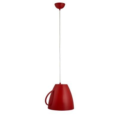 Светильник чашка красная Arte lamp A6601SP-1RD CAFFETTERIAОдиночные<br>Светильник похожий на перевернутую чайную чашку красного цвета будет оптимальным вариантом для гостинных. обеденных зон. а также общепитов.<br><br>S освещ. до, м2: 2<br>Тип лампы: накаливания / энергосбережения / LED-светодиодная<br>Тип цоколя: E27<br>Количество ламп: 1<br>Ширина, мм: 300<br>MAX мощность ламп, Вт: 40<br>Длина, мм: 360<br>Высота, мм: 300<br>Цвет арматуры: красный