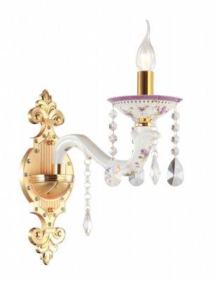 Светильник Arte lamp A6613AP-1GO ContessaХрустальные<br><br><br>Тип лампы: накаливания / энергосбережения / LED-светодиодная<br>Тип цоколя: E14<br>Ширина, мм: 150<br>MAX мощность ламп, Вт: 40<br>Длина, мм: 330<br>Высота, мм: 340<br>Цвет арматуры: золотой