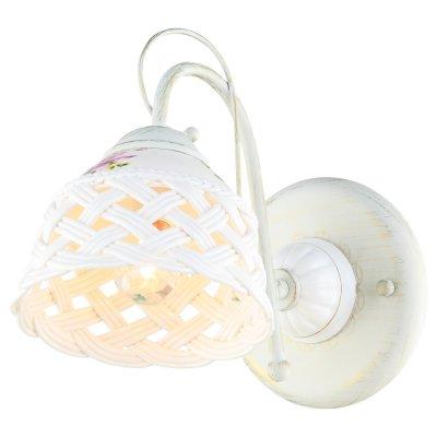 Светильник Arte lamp A6616AP-1WG WickerСовременные<br><br><br>Тип лампы: Накаливания / энергосбережения / светодиодная<br>Тип цоколя: E14<br>Цвет арматуры: белый<br>Количество ламп: 1<br>Ширина, мм: 150<br>Размеры: H23xW15xL28<br>Длина, мм: 280<br>Высота, мм: 230<br>MAX мощность ламп, Вт: 40