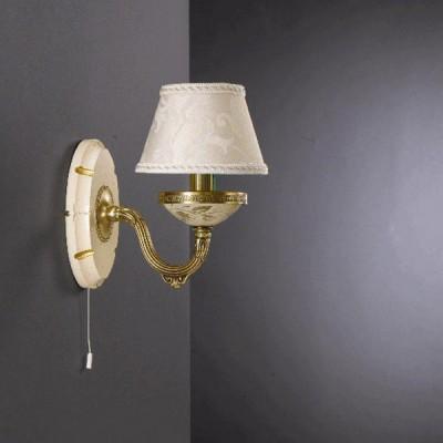 Светильник Reccagni Angelo A 6618/1Классические<br><br><br>S освещ. до, м2: 4<br>Тип лампы: накаливания / энергосбережения / LED-светодиодная<br>Тип цоколя: E14<br>Цвет арматуры: бронзовый<br>Количество ламп: 1<br>Диаметр, мм мм: 240<br>Расстояние от стены, мм: 240<br>Высота, мм: 250<br>MAX мощность ламп, Вт: 60