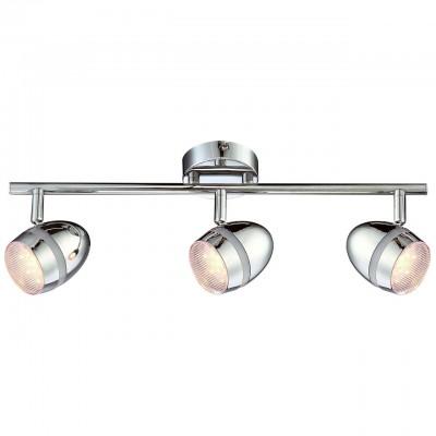 Светильник Arte lamp A6701PL-3CC BOMBOТройные<br>Светильники-споты – это оригинальные изделия с современным дизайном. Они позволяют не ограничивать свою фантазию при выборе освещения для интерьера. Такие модели обеспечивают достаточно качественный свет. Благодаря компактным размерам Вы можете использовать несколько спотов для одного помещения.  Интернет-магазин «Светодом» предлагает необычный светильник-спот ARTE Lamp A6701PL-3CC по привлекательной цене. Эта модель станет отличным дополнением к люстре, выполненной в том же стиле. Перед оформлением заказа изучите характеристики изделия.  Купить светильник-спот ARTE Lamp A6701PL-3CC в нашем онлайн-магазине Вы можете либо с помощью формы на сайте, либо по указанным выше телефонам. Обратите внимание, что у нас склады не только в Москве и Екатеринбурге, но и других городах России.<br><br>S освещ. до, м2: 4<br>Тип лампы: LED<br>Тип цоколя: 3W<br>Цвет арматуры: серебристый хром<br>Количество ламп: 3<br>Размеры: H9xW16xL46<br>MAX мощность ламп, Вт: LED