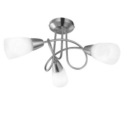 Светильник Arte lamp A6713PL-3SS MUTTIПотолочные<br><br><br>S освещ. до, м2: 6<br>Тип товара: Светильник<br>Тип лампы: Накаливания / энергосбережения / светодиодная<br>Тип цоколя: 40W<br>Количество ламп: 3<br>MAX мощность ламп, Вт: 40<br>Размеры: H28xW40xL40<br>Цвет арматуры: серебристый