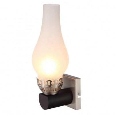 Светильник настенный бра Arte lamp A6801AP-1BR LOMBARDYМодерн<br><br><br>Тип лампы: Накаливания / энергосбережения / светодиодная<br>Тип цоколя: E14<br>Количество ламп: 1<br>MAX мощность ламп, Вт: 60<br>Размеры: H35xW12xL12<br>Цвет арматуры: коричневый