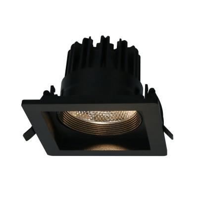 Светильник потолочный Arte lamp A7007PL-1BKКвадратные встраиваемые светильники<br><br><br>Цветовая t, К: 3000K<br>Тип цоколя: LED<br>Цвет арматуры: ЧЕРНЫЙ<br>Количество ламп: 1<br>Диаметр, мм мм: 115<br>Размеры: 115*115*80<br>Диаметр врезного отверстия, мм: 9x9<br>Длина, мм: 115<br>Высота, мм: 80<br>MAX мощность ламп, Вт: 7W<br>Общая мощность, Вт: 7W