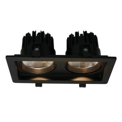 A7007PL-2BK Arte lamp СветильникДаунлайты<br><br><br>Цветовая t, К: 3000K<br>Тип цоколя: LED<br>Количество ламп: 2<br>MAX мощность ламп, Вт: 7W<br>Диаметр, мм мм: 115<br>Размеры: 210*115*80<br>Диаметр врезного отверстия, мм: 9x18<br>Длина, мм: 210<br>Высота, мм: 80<br>Цвет арматуры: ЧЕРНЫЙ<br>Общая мощность, Вт: 7W