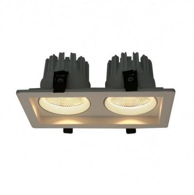 A7007PL-2WH Arte lamp СветильникТочечные<br><br><br>Цветовая t, К: 3000K<br>Тип цоколя: LED<br>Количество ламп: 2<br>MAX мощность ламп, Вт: 7W<br>Диаметр, мм мм: 115<br>Размеры: 210*115*80<br>Диаметр врезного отверстия, мм: 9x18<br>Длина, мм: 210<br>Высота, мм: 80<br>Цвет арматуры: БЕЛЫЙ<br>Общая мощность, Вт: 7W