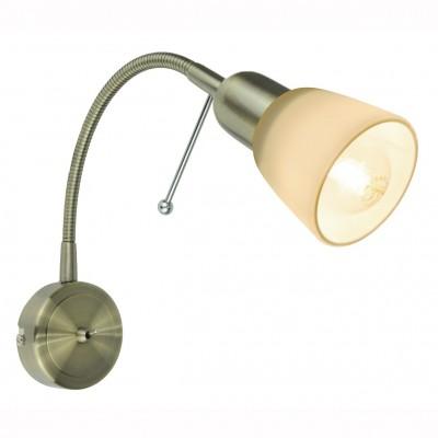 Светильник настенный бра Arte lamp A7009AP-1AB LETTURAГибкие<br><br><br>Тип цоколя: E14<br>Цвет арматуры: бронзовый<br>Количество ламп: 1<br>Размеры: H25xW9xL7<br>MAX мощность ламп, Вт: 40