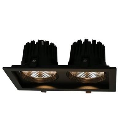 A7018PL-2BK Arte lamp СветильникДаунлайты<br><br><br>Цветовая t, К: 3000K<br>Тип цоколя: LED<br>Цвет арматуры: ЧЕРНЫЙ<br>Количество ламп: 2<br>Диаметр, мм мм: 145<br>Размеры: 265*145*100<br>Диаметр врезного отверстия, мм: 11,5x23,5<br>Длина, мм: 265<br>Высота, мм: 100<br>MAX мощность ламп, Вт: 18W<br>Общая мощность, Вт: 18W