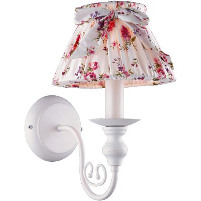 Бра прованс Arte lamp A7020AP-1WH BambinaПрованс<br><br><br>S освещ. до, м2: 2<br>Тип лампы: накаливания / энергосбережения / LED-светодиодная<br>Тип цоколя: E14<br>Цвет арматуры: белый<br>Количество ламп: 1<br>Ширина, мм: 200<br>Длина, мм: 220<br>Высота, мм: 310<br>Оттенок (цвет): разноцветный<br>MAX мощность ламп, Вт: 40