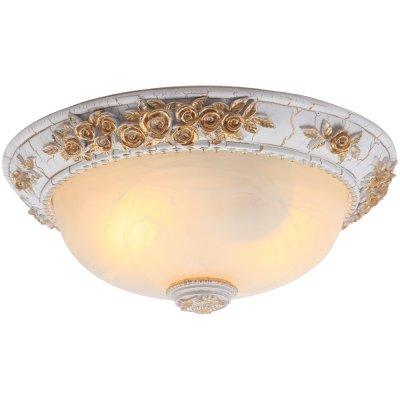 Светильник Arte lamp A7101PL-2WG TortaПотолочные<br>Компания «Светодом» предлагает широкий ассортимент люстр от известных производителей. Представленные в нашем каталоге товары выполнены из современных материалов и обладают отличным качеством. Благодаря широкому ассортименту Вы сможете найти у нас люстру под любой интерьер. Мы предлагаем как классические варианты, так и современные модели, отличающиеся лаконичностью и простотой форм.  Стильная люстра Arte lamp A7101PL-2WG станет украшением любого дома. Эта модель от известного производителя не оставит равнодушным ценителей красивых и оригинальных предметов интерьера. Люстра Arte lamp A7101PL-2WG обеспечит равномерное распределение света по всей комнате. При выборе обратите внимание на характеристики, позволяющие приобрести наиболее подходящую модель. Купить понравившуюся люстру по доступной цене Вы можете в интернет-магазине «Светодом».<br><br>Установка на натяжной потолок: Ограничено<br>S освещ. до, м2: 8<br>Крепление: Планка<br>Тип лампы: накаливания / энергосбережения / LED-светодиодная<br>Тип цоколя: E27<br>Цвет арматуры: белый с золотистой патиной<br>Количество ламп: 2<br>Диаметр, мм мм: 370<br>Высота, мм: 160<br>MAX мощность ламп, Вт: 60