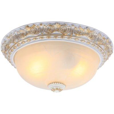 Светильник круглый Arte lamp A7121PL-2WG TortaПотолочные<br>Компания «Светодом» предлагает широкий ассортимент люстр от известных производителей. Представленные в нашем каталоге товары выполнены из современных материалов и обладают отличным качеством. Благодаря широкому ассортименту Вы сможете найти у нас люстру под любой интерьер. Мы предлагаем как классические варианты, так и современные модели, отличающиеся лаконичностью и простотой форм.  Стильная люстра Arte lamp A7121PL-2WG станет украшением любого дома. Эта модель от известного производителя не оставит равнодушным ценителей красивых и оригинальных предметов интерьера. Люстра Arte lamp A7121PL-2WG обеспечит равномерное распределение света по всей комнате. При выборе обратите внимание на характеристики, позволяющие приобрести наиболее подходящую модель. Купить понравившуюся люстру по доступной цене Вы можете в интернет-магазине «Светодом».<br><br>Установка на натяжной потолок: Ограничено<br>S освещ. до, м2: 8<br>Крепление: Планка<br>Тип лампы: накаливания / энергосбережения / LED-светодиодная<br>Тип цоколя: E27<br>Цвет арматуры: белый с золотистой патиной<br>Количество ламп: 2<br>Диаметр, мм мм: 370<br>Высота, мм: 160<br>MAX мощность ламп, Вт: 60