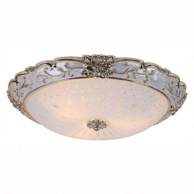 Светильник потолочный Arte lamp A7135PL-3WH TORTA LUXПотолочные<br><br><br>S освещ. до, м2: 6<br>Тип цоколя: E27<br>Количество ламп: 3<br>MAX мощность ламп, Вт: 40<br>Размеры: H11xW50xL50<br>Цвет арматуры: белый