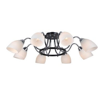 Светильник Arte lamp A7144PL-8BK FIORENTINOсовременные потолочные люстры модерн<br>Компания «Светодом» предлагает широкий ассортимент люстр от известных производителей. Представленные в нашем каталоге товары выполнены из современных материалов и обладают отличным качеством. Благодаря широкому ассортименту Вы сможете найти у нас люстру под любой интерьер. Мы предлагаем как классические варианты, так и современные модели, отличающиеся лаконичностью и простотой форм.   Стильная люстра Arte lamp A7144PL-8BK станет украшением любого дома. Эта модель от известного производителя не оставит равнодушным ценителей красивых и оригинальных предметов интерьера. Люстра Arte lamp A7144PL-8BK обеспечит равномерное распределение света по всей комнате. При выборе обратите внимание на характеристики, позволяющие приобрести наиболее подходящую модель.   Купить понравившуюся люстру по доступной цене Вы можете в интернет-магазине «Светодом».<br><br>Установка на натяжной потолок: Да<br>S освещ. до, м2: 16<br>Крепление: Планка<br>Тип лампы: накал-я - энергосбер-я<br>Тип цоколя: E14<br>Цвет арматуры: черный<br>Количество ламп: 8<br>Диаметр, мм мм: 790<br>Высота, мм: 220<br>MAX мощность ламп, Вт: 40