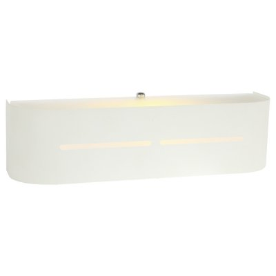 Светильник Arte lamp A7210AP-1WH COSMOPOLITANсовременные бра модерн<br><br><br>Тип лампы: Накаливания / энергосбережения / светодиодная<br>Тип цоколя: E14<br>Количество ламп: 1<br>Ширина, мм: 80<br>Длина, мм: 300<br>Высота, мм: 80<br>MAX мощность ламп, Вт: 40
