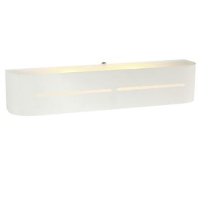 Светильник Arte lamp A7210AP-2WH COSMOPOLITANХай-тек<br><br><br>Тип цоколя: E14<br>Количество ламп: 2<br>Ширина, мм: 80<br>MAX мощность ламп, Вт: 40<br>Длина, мм: 400<br>Высота, мм: 80