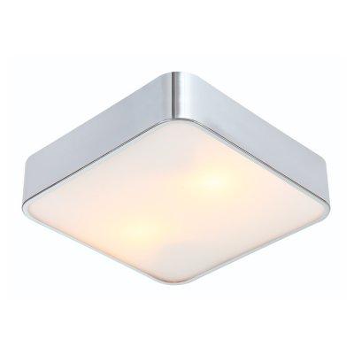 Светильник Arte lamp A7210PL-2CC CosmopolitanКвадратные<br>Настенно-потолочные светильники – это универсальные осветительные варианты, которые подходят для вертикального и горизонтального монтажа. В интернет-магазине «Светодом» Вы можете приобрести подобные модели по выгодной стоимости. В нашем каталоге представлены как бюджетные варианты, так и эксклюзивные изделия от производителей, которые уже давно заслужили доверие дизайнеров и простых покупателей.  Настенно-потолочный светильник ARTELamp A7210PL-2CC станет прекрасным дополнением к основному освещению. Благодаря качественному исполнению и применению современных технологий при производстве эта модель будет радовать Вас своим привлекательным внешним видом долгое время.  Приобрести настенно-потолочный светильник ARTELamp A7210PL-2CC можно, находясь в любой точке России.<br><br>S освещ. до, м2: 6<br>Тип лампы: Накаливания / энергосбережения / светодиодная<br>Тип цоколя: E27<br>Количество ламп: 2<br>MAX мощность ламп, Вт: 60<br>Диаметр, мм мм: 300<br>Высота, мм: 80<br>Цвет арматуры: серебристый