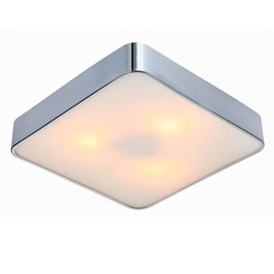 Светильник квадратный Arte lamp A7210PL-3CC CosmopolitanКвадратные<br>Настенно-потолочные светильники – это универсальные осветительные варианты, которые подходят для вертикального и горизонтального монтажа. В интернет-магазине «Светодом» Вы можете приобрести подобные модели по выгодной стоимости. В нашем каталоге представлены как бюджетные варианты, так и эксклюзивные изделия от производителей, которые уже давно заслужили доверие дизайнеров и простых покупателей.  Настенно-потолочный светильник ARTELamp A7210PL-3CC станет прекрасным дополнением к основному освещению. Благодаря качественному исполнению и применению современных технологий при производстве эта модель будет радовать Вас своим привлекательным внешним видом долгое время. Приобрести настенно-потолочный светильник ARTELamp A7210PL-3CC можно, находясь в любой точке России. Компания «Светодом» осуществляет доставку заказов не только по Москве и Екатеринбургу, но и в остальные города.<br><br>S освещ. до, м2: 9<br>Тип лампы: Накаливания / энергосбережения / светодиодная<br>Тип цоколя: E27<br>Количество ламп: 3<br>MAX мощность ламп, Вт: 60<br>Диаметр, мм мм: 400<br>Высота, мм: 80<br>Цвет арматуры: серебристый