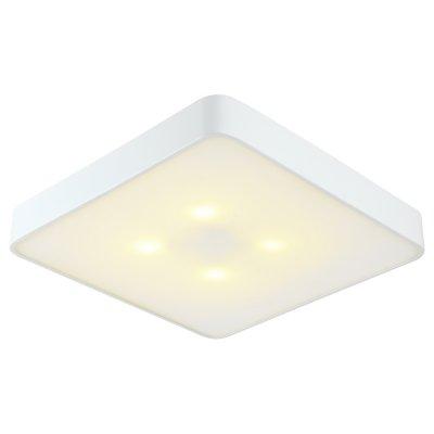 Светильник белый Arte lamp A7210PL-4WH CosmopolitanКвадратные<br><br><br>S освещ. до, м2: 12<br>Тип товара: Светильник белый<br>Тип лампы: Накаливания / энергосбережения / светодиодная<br>Тип цоколя: E27<br>Количество ламп: 4<br>MAX мощность ламп, Вт: 60<br>Диаметр, мм мм: 500<br>Высота, мм: 80<br>Цвет арматуры: белый