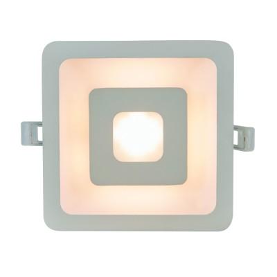 A7245PL-2WH Arte lamp СветильникКвадратные<br><br><br>Цветовая t, К: 3000K<br>Тип цоколя: LED<br>Цвет арматуры: БЕЛЫЙ<br>Количество ламп: 2<br>Диаметр, мм мм: 155<br>Диаметр врезного отверстия, мм: 13,5x13,5<br>Длина, мм: 155<br>Высота, мм: 32<br>MAX мощность ламп, Вт: 5W/5W<br>Общая мощность, Вт: 5W