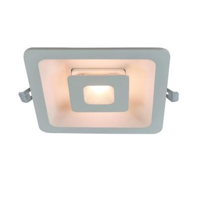 A7247PL-2WH Arte lamp СветильникКвадратные LED<br><br><br>Цветовая t, К: 3000K<br>Тип цоколя: LED<br>Цвет арматуры: БЕЛЫЙ<br>Количество ламп: 2<br>Диаметр, мм мм: 180<br>Диаметр врезного отверстия, мм: 15,5x15,5<br>Длина, мм: 180<br>Высота, мм: 32<br>MAX мощность ламп, Вт: 7W/7W<br>Общая мощность, Вт: 7W