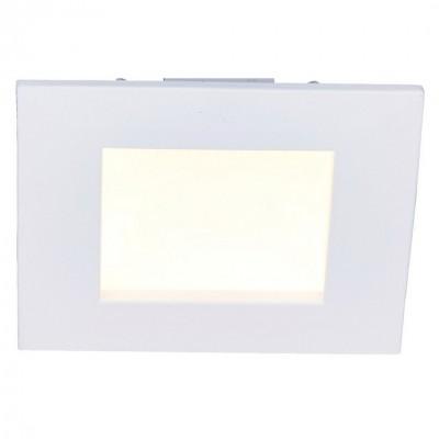 Светильник встраиваемый Arte lamp A7408PL-1WH RIFLESSIONEКвадратные LED<br>Встраиваемые светильники – популярное осветительное оборудование, которое можно использовать в качестве основного источника или в дополнение к люстре. Они позволяют создать нужную атмосферу атмосферу и привнести в интерьер уют и комфорт.   Интернет-магазин «Светодом» предлагает стильный встраиваемый светильник ARTE Lamp A7408PL-1WH. Данная модель достаточно универсальна, поэтому подойдет практически под любой интерьер. Перед покупкой не забудьте ознакомиться с техническими параметрами, чтобы узнать тип цоколя, площадь освещения и другие важные характеристики.   Приобрести встраиваемый светильник ARTE Lamp A7408PL-1WH в нашем онлайн-магазине Вы можете либо с помощью «Корзины», либо по контактным номерам. Мы развозим заказы по Москве, Екатеринбургу и остальным российским городам.<br><br>Тип цоколя: LED<br>Цвет арматуры: белый<br>Количество ламп: 1<br>Размеры: H3,5xW11xL11<br>MAX мощность ламп, Вт: 8
