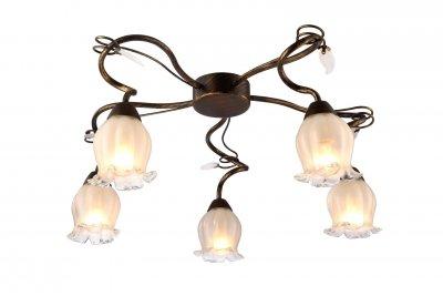 Светильник потолочный Arte lamp A7449PL-5BR GLAMOREПотолочные<br>Компания «Светодом» предлагает широкий ассортимент люстр от известных производителей. Представленные в нашем каталоге товары выполнены из современных материалов и обладают отличным качеством. Благодаря широкому ассортименту Вы сможете найти у нас люстру под любой интерьер. Мы предлагаем как классические варианты, так и современные модели, отличающиеся лаконичностью и простотой форм.  Стильная люстра Arte lamp A7449PL-5BR станет украшением любого дома. Эта модель от известного производителя не оставит равнодушным ценителей красивых и оригинальных предметов интерьера. Люстра Arte lamp A7449PL-5BR обеспечит равномерное распределение света по всей комнате. При выборе обратите внимание на характеристики, позволяющие приобрести наиболее подходящую модель. Купить понравившуюся люстру по доступной цене Вы можете в интернет-магазине «Светодом».<br><br>Установка на натяжной потолок: Да<br>S освещ. до, м2: 10<br>Крепление: Планка<br>Тип лампы: Накаливания / энергосбережения / светодиодная<br>Тип цоколя: E14<br>Количество ламп: 5<br>MAX мощность ламп, Вт: 40<br>Диаметр, мм мм: 520<br>Размеры: H26xW52xL52<br>Высота, мм: 260<br>Цвет арматуры: коричневый