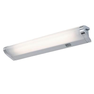 Светильник настенный бра Arte lamp A7508AP-1CC CABINETсветильники бра для кухни<br><br><br>Тип лампы: люминесцентная<br>Тип цоколя: T5<br>Цвет арматуры: серебристый<br>Количество ламп: 1<br>Размеры: H7xW8xL33,9<br>MAX мощность ламп, Вт: 8