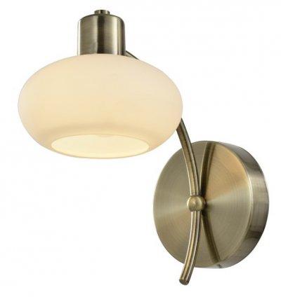 Светильник настенный бра Arte lamp A7556AP-1AB LATONAСовременные<br><br><br>Тип цоколя: E14<br>Цвет арматуры: бронзовый<br>Количество ламп: 1<br>Размеры: H14xW23xL23<br>MAX мощность ламп, Вт: 40