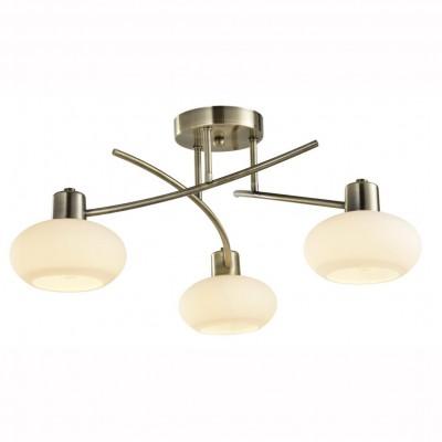 Светильник потолочный Arte lamp A7556PL-3AB LATONAПотолочные<br><br><br>S освещ. до, м2: 6<br>Тип цоколя: E14<br>Количество ламп: 3<br>MAX мощность ламп, Вт: 40<br>Размеры: H20xW56xL56<br>Цвет арматуры: бронзовый