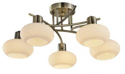Светильник потолочный Arte lamp A7556PL-5AB LATONAПотолочные<br><br><br>Установка на натяжной потолок: Да<br>S освещ. до, м2: 10<br>Тип цоколя: E14<br>Цвет арматуры: бронзовый<br>Количество ламп: 5<br>Диаметр, мм мм: 600<br>Размеры: H20xW60xL60<br>Высота, мм: 200<br>MAX мощность ламп, Вт: 40