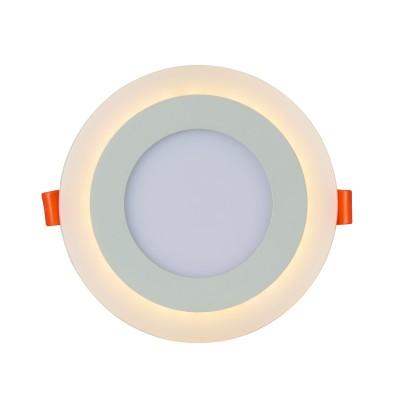 A7609PL-2WH Arte lamp СветильникКруглые<br><br><br>Цветовая t, К: 3000K/4000K<br>Тип цоколя: LED<br>Цвет арматуры: БЕЛЫЙ<br>Количество ламп: 2<br>Диаметр, мм мм: 145<br>Размеры: 144MM<br>Диаметр врезного отверстия, мм: 10,5<br>Длина, мм: 145<br>Высота, мм: 25<br>MAX мощность ламп, Вт: 6W/3W<br>Общая мощность, Вт: 6 - 3W
