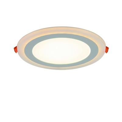 A7616PL-2WH Arte lamp СветильникКруглые<br><br><br>Цветовая t, К: 3000K/4000K<br>Тип цоколя: LED<br>Количество ламп: 2<br>MAX мощность ламп, Вт: 12W/4W<br>Диаметр, мм мм: 195<br>Размеры: 194MM<br>Диаметр врезного отверстия, мм: 15,5<br>Длина, мм: 195<br>Высота, мм: 25<br>Цвет арматуры: БЕЛЫЙ<br>Общая мощность, Вт: 12 - 4W