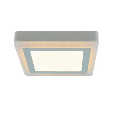 Светильник потолочный Arte lamp A7716PL-2WHквадратные светильники<br><br><br>S освещ. до, м2: 5<br>Цветовая t, К: 3000K/4000K<br>Тип цоколя: LED<br>Цвет арматуры: БЕЛЫЙ<br>Количество ламп: 2<br>Диаметр, мм мм: 195<br>Размеры: 194MM<br>Длина, мм: 195<br>Высота, мм: 36<br>MAX мощность ламп, Вт: 12W/4W<br>Общая мощность, Вт: 12 - 4W