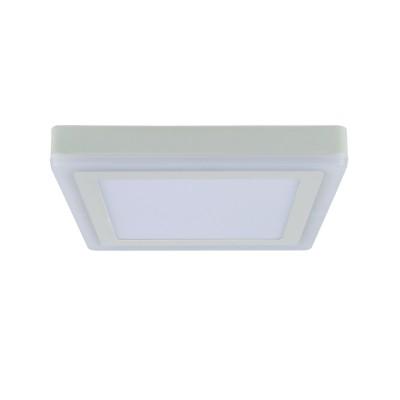 A7724PL-2WH Arte lamp СветильникКвадратные<br><br><br>Цветовая t, К: 3000K/4000K<br>Тип цоколя: LED<br>Количество ламп: 2<br>MAX мощность ламп, Вт: 18W/6W<br>Диаметр, мм мм: 245<br>Размеры: 242MM<br>Длина, мм: 245<br>Высота, мм: 36<br>Цвет арматуры: БЕЛЫЙ<br>Общая мощность, Вт: 18 - 6W