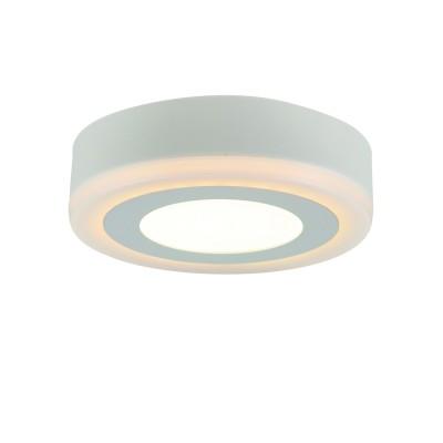 A7809PL-2WH Arte lamp СветильникКруглые<br><br><br>Цветовая t, К: 3000K/4000K<br>Тип цоколя: LED<br>Цвет арматуры: БЕЛЫЙ<br>Количество ламп: 2<br>Диаметр, мм мм: 145<br>Размеры: 144MM<br>Длина, мм: 145<br>Высота, мм: 36<br>MAX мощность ламп, Вт: 6W/3W<br>Общая мощность, Вт: 6 - 3W