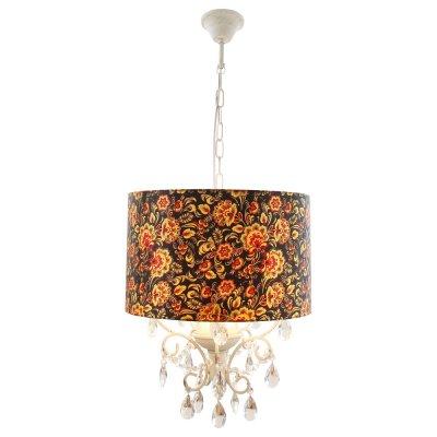 Люстра Arte lamp A7960SP-3BC MoscowПодвесные<br>Светильник подвесного типа с росписью под хохлому<br><br>Установка на натяжной потолок: Да<br>S освещ. до, м2: 8<br>Крепление: Крюк<br>Тип лампы: накаливания / энергосбережения / LED-светодиодная<br>Тип цоколя: E14<br>Количество ламп: 3<br>Ширина, мм: 400<br>MAX мощность ламп, Вт: 40<br>Диаметр, мм мм: 400<br>Длина цепи/провода, мм: 940<br>Высота, мм: 440<br>Цвет арматуры: белый