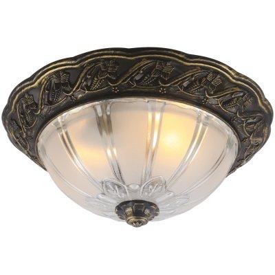 Потолочный светильник Arte lamp A8003PL-2AB PiattiПотолочные<br>Компания «Светодом» предлагает широкий ассортимент люстр от известных производителей. Представленные в нашем каталоге товары выполнены из современных материалов и обладают отличным качеством. Благодаря широкому ассортименту Вы сможете найти у нас люстру под любой интерьер. Мы предлагаем как классические варианты, так и современные модели, отличающиеся лаконичностью и простотой форм. <br>Стильная люстра Arte lamp A8003PL-2AB станет украшением любого дома. Эта модель от известного производителя не оставит равнодушным ценителей красивых и оригинальных предметов интерьера. Люстра Arte lamp A8003PL-2AB обеспечит равномерное распределение света по всей комнате. При выборе обратите внимание на характеристики, позволяющие приобрести наиболее подходящую модель. <br>Купить понравившуюся люстру по доступной цене Вы можете в интернет-магазине «Светодом».<br><br>Установка на натяжной потолок: Ограничено<br>S освещ. до, м2: 6<br>Крепление: Планка<br>Тип лампы: накаливания / энергосбережения / LED-светодиодная<br>Тип цоколя: E27<br>Количество ламп: 2<br>MAX мощность ламп, Вт: 60<br>Диаметр, мм мм: 320<br>Высота, мм: 150<br>Оттенок (цвет): белый<br>Цвет арматуры: бронзовый