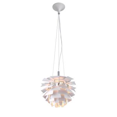 Светильник подвесной Arte lamp A8008SP-1WH Botticelliподвесные люстры хай тек<br><br><br>Установка на натяжной потолок: Да<br>S освещ. до, м2: 3<br>Крепление: Планка<br>Тип цоколя: E27<br>Цвет арматуры: БЕЛЫЙ<br>Количество ламп: 1<br>Диаметр, мм мм: 480<br>Длина цепи/провода, мм: 1400<br>Размеры: D48<br>Длина, мм: 480<br>Высота, мм: 480<br>MAX мощность ламп, Вт: 60W<br>Общая мощность, Вт: 60W