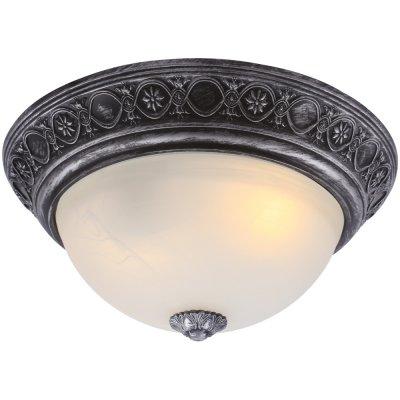 Потолочный светильник Arte lamp A8009PL-2SB PiattiПотолочные<br><br><br>Установка на натяжной потолок: Ограничено<br>S освещ. до, м2: 6<br>Крепление: Планка<br>Тип товара: Светильник<br>Скидка, %: 40<br>Тип лампы: накаливания / энергосбережения / LED-светодиодная<br>Тип цоколя: E27<br>Количество ламп: 2<br>MAX мощность ламп, Вт: 60<br>Диаметр, мм мм: 340<br>Высота, мм: 170<br>Оттенок (цвет): белый<br>Цвет арматуры: черный