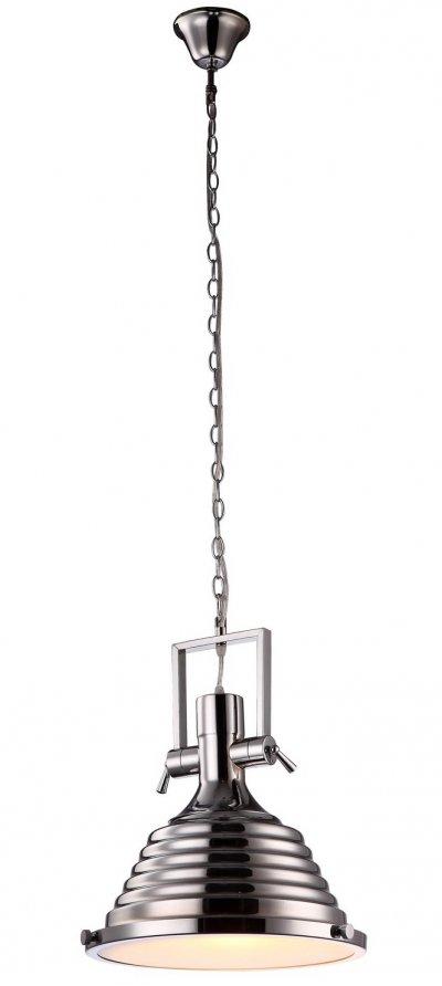 Светильник Arte lamp A8021SP-1CC DECCOПодвесные<br>Компания «Светодом» предлагает широкий ассортимент люстр от известных производителей. Представленные в нашем каталоге товары выполнены из современных материалов и обладают отличным качеством. Благодаря широкому ассортименту Вы сможете найти у нас люстру под любой интерьер. Мы предлагаем как классические варианты, так и современные модели, отличающиеся лаконичностью и простотой форм.  Стильная люстра Arte lamp A8021SP-1CC станет украшением любого дома. Эта модель от известного производителя не оставит равнодушным ценителей красивых и оригинальных предметов интерьера. Люстра Arte lamp A8021SP-1CC обеспечит равномерное распределение света по всей комнате. При выборе обратите внимание на характеристики, позволяющие приобрести наиболее подходящую модель. Купить понравившуюся люстру по доступной цене Вы можете в интернет-магазине «Светодом».<br><br>Установка на натяжной потолок: Да<br>S освещ. до, м2: 1<br>Крепление: Крюк<br>Тип лампы: накал-я - энергосбер-я<br>Тип цоколя: E27<br>Количество ламп: 1<br>MAX мощность ламп, Вт: 40<br>Диаметр, мм мм: 320<br>Высота, мм: 430<br>Цвет арматуры: серебристый