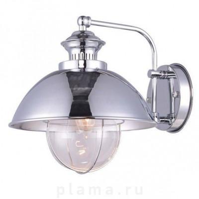 Светильник настенный бра Arte lamp A8024AP-1CC NAUTILUSМорской стиль<br><br><br>Тип цоколя: E27<br>Цвет арматуры: серебристый<br>Количество ламп: 1<br>Размеры: H25xW30xL25<br>MAX мощность ламп, Вт: 60