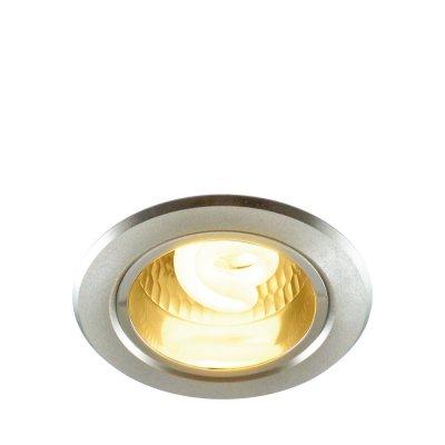 Светильник встраиваемый Arte lamp A8043PL-1SI TechnikaC лампой накаливания<br><br><br>S освещ. до, м2: 4<br>Тип товара: точечный встраиваемый светильник<br>Скидка, %: 57<br>Тип лампы: только энергосберегающая или LED<br>Тип цоколя: E27<br>Количество ламп: 1<br>Ширина, мм: 112<br>MAX мощность ламп, Вт: 7<br>Диаметр, мм мм: 112<br>Диаметр врезного отверстия, мм: 90<br>Высота, мм: 150<br>Цвет арматуры: серебристый