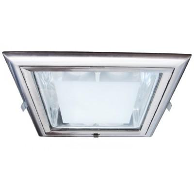 Светильник встраиваемый Arte lamp A8044PL-2SS TechnikaСнято с производства<br><br><br>S освещ. до, м2: 4<br>Тип лампы: накал-я - энергосбер-я<br>Тип цоколя: E27<br>Количество ламп: 2<br>Ширина, мм: 230<br>MAX мощность ламп, Вт: 26<br>Диаметр, мм мм: 230<br>Диаметр врезного отверстия, мм: 210*195<br>Высота, мм: 120<br>Цвет арматуры: никель матовый/алюминий