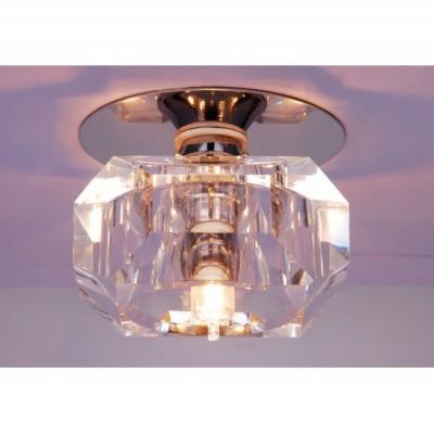 Светильник встраиваемый Arte lamp A8046PL-1CC BrilliantХрустальные<br><br><br>S освещ. до, м2: 4<br>Тип товара: Светильник встраиваемый<br>Скидка, %: 49<br>Тип лампы: галогенная<br>Тип цоколя: G9<br>Количество ламп: 1<br>Ширина, мм: 80<br>MAX мощность ламп, Вт: 50<br>Диаметр, мм мм: 80<br>Диаметр врезного отверстия, мм: 55<br>Высота, мм: 40<br>Цвет арматуры: серебристый